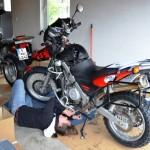 removing crash bars and motor guard fpr oil change