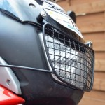 headlight with shield
