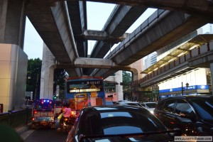 Just a normal traffic jam in Bangkok