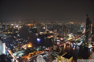 Modern Bangkok at night