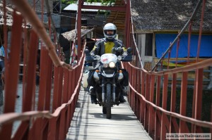 Small bridge for big motorcycle