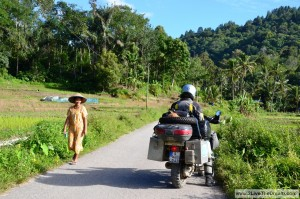 On the roads in central Sumatra