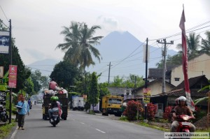 Merapi volcano near Yogyakarta