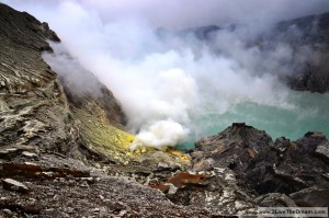 Sulphur fumes at Ijen crater