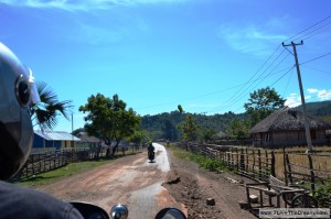 On the road in Timor Leste