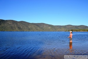 Fishing at Eungella dam