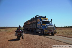 You better make place when such a road train is coming towards you