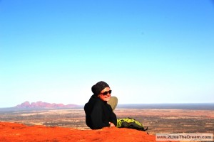 On top of Ayers Rock
