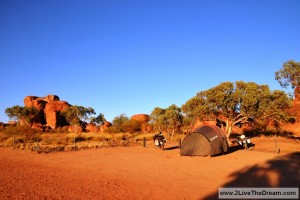 Camping at the Devil's Marbles