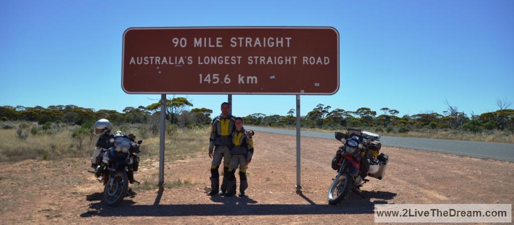Australia's longest straight road....