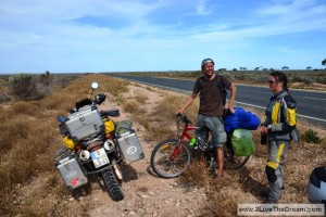 Cyclists on the Nullabor - from Denmark....