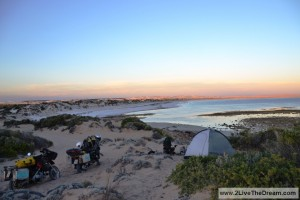 Camping in the dunes