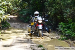 Through the mud....